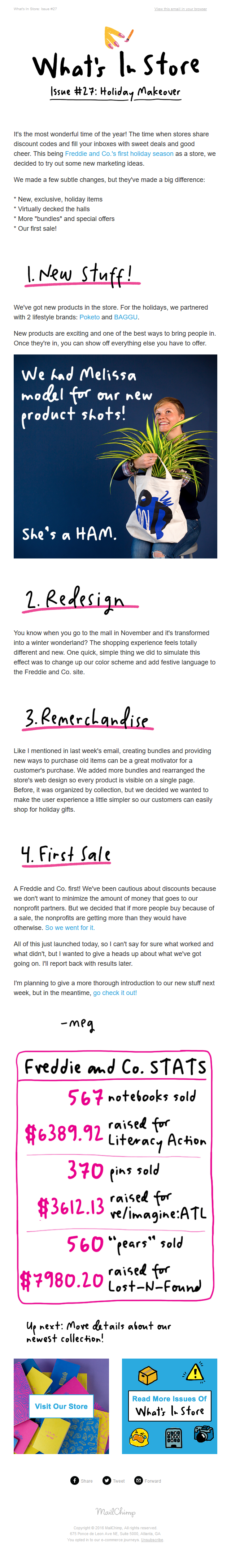 MailChimp: What's in Store - Issue #27: Giving the store a festive makeover!