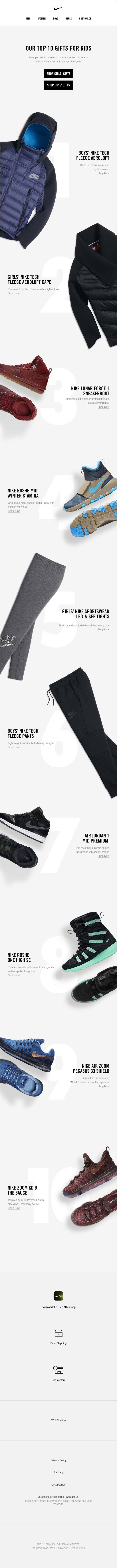 Nike - Top 10 Gifts for Kids