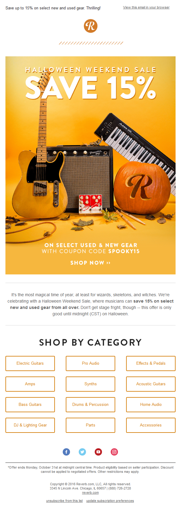 Reverb.com - Halloween Sale begins
