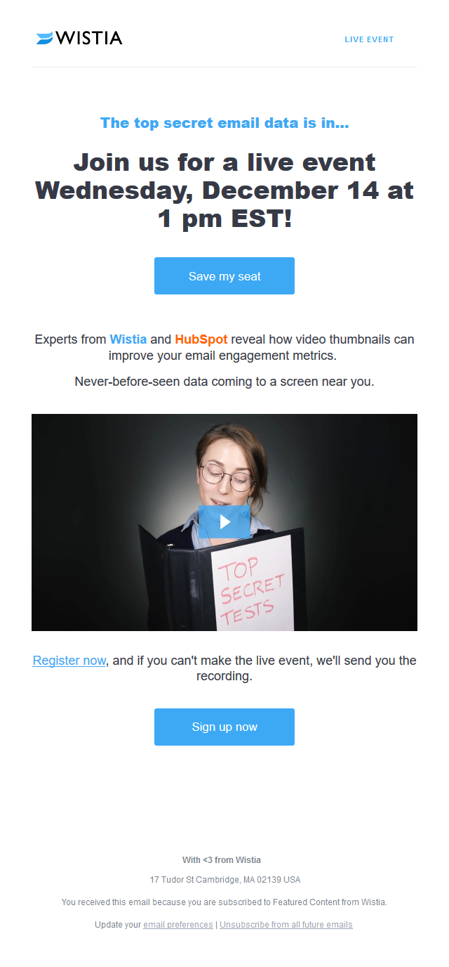 [Save Your Seat - Dec. 14] Learn new email data about video thumbnails ?