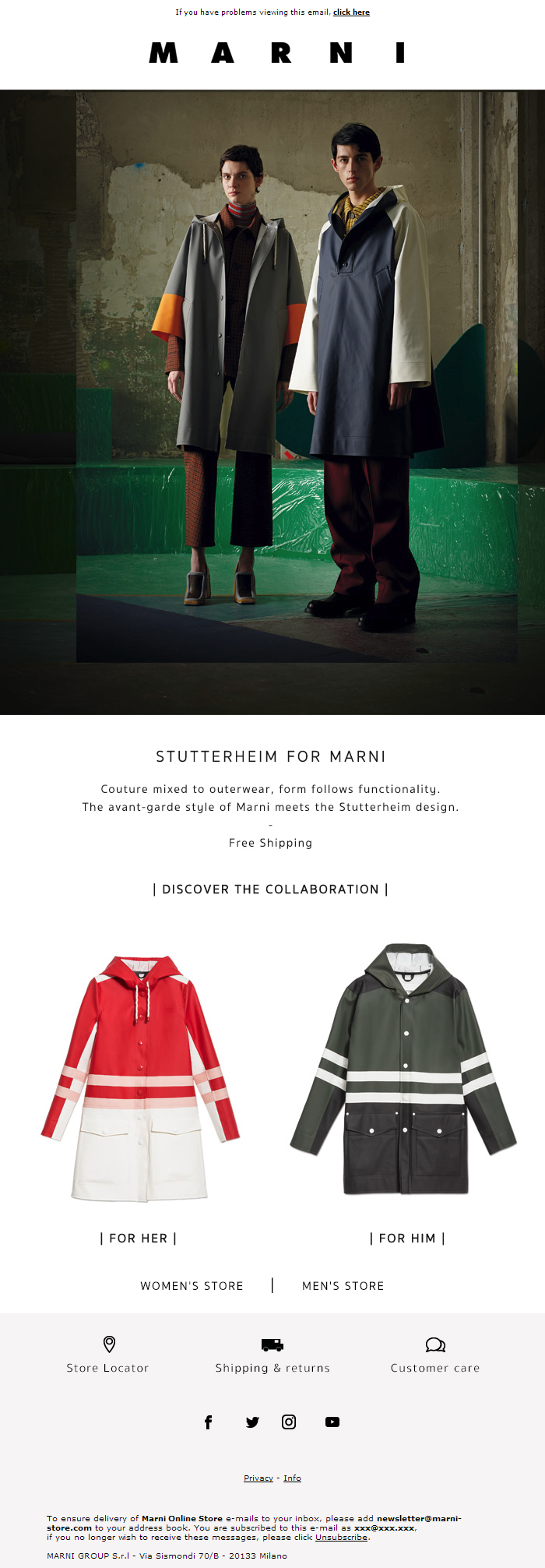 Stutterheim for Marni | Free shipping