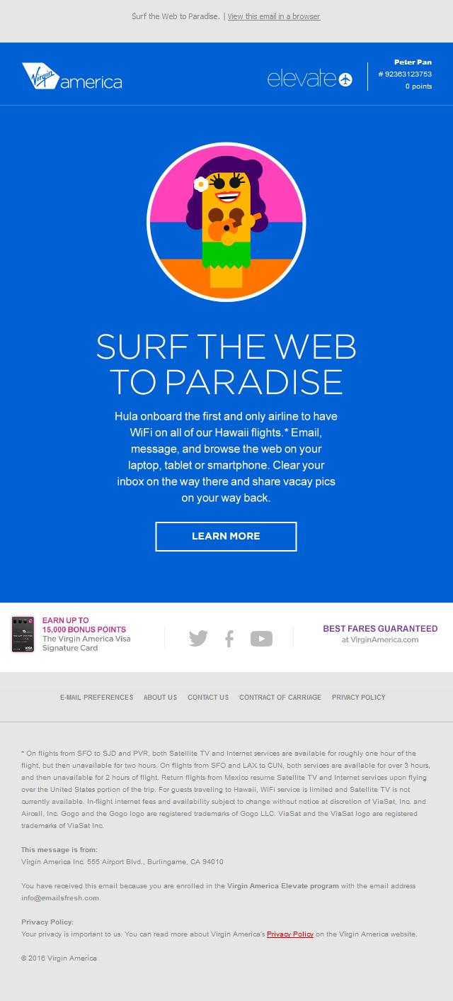 Surf The Web To Hawaii.