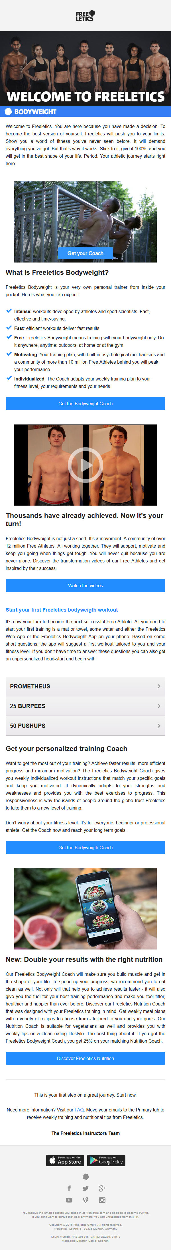 Welcome to Freeletics!