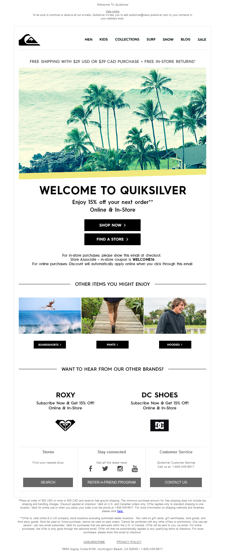 Welcome To Quiksilver